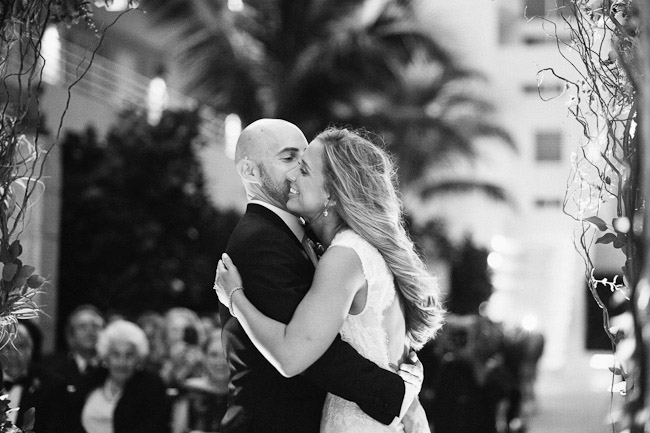 wedding at the James Royal Palm hotel in Miami, Florida