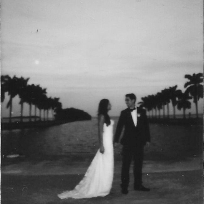 Chris and Colleen polaroid 2 2 Chris and Colleen // wedding at the Deering Estate