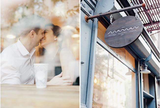 blog2 Drew & Jen / Manhattan coffee house engagement session