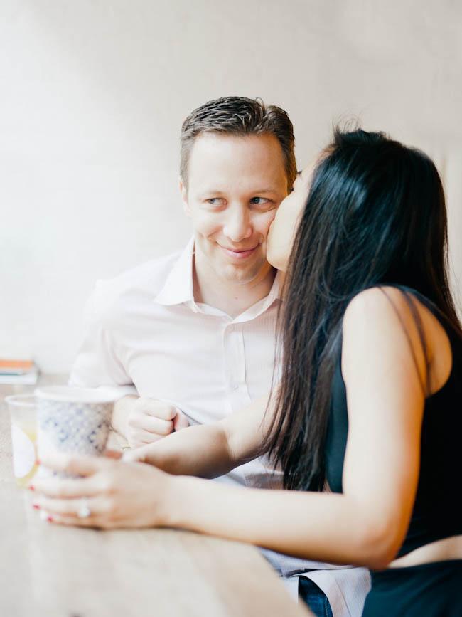 Jen and Drew 077 Drew & Jen / Manhattan coffee house engagement session
