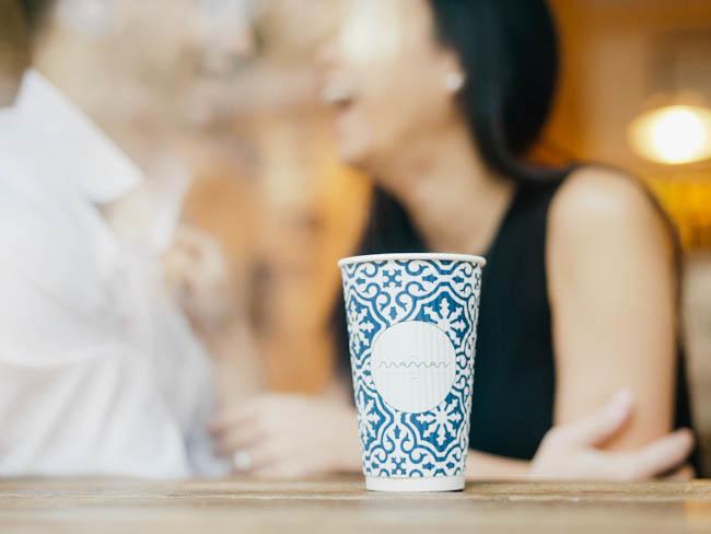 Jen and Drew 085 Drew & Jen / Manhattan coffee house engagement session