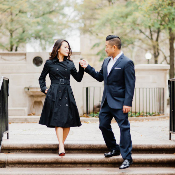 Inseo + Stephenny / engagement session in Philadelphia