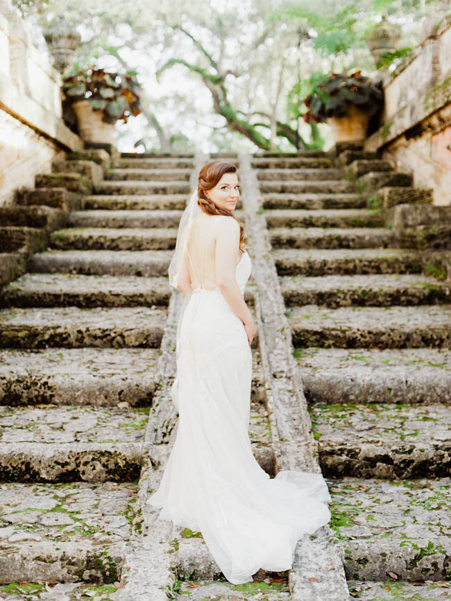 Wedding at Vizcaya Gardens in Miami, Florida